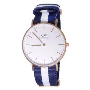 Daniel Wellington horloge Staal Mineraalglas Nylon
