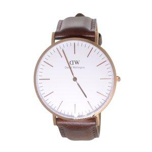 Daniel Wellington Reloj Acero fino Cristal mineral Cuero