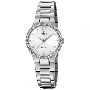 Festina  Stainless Steel Mineral glass Leather zirconia