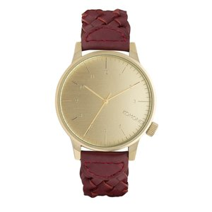 KOMONO  Stainless Steel Mineral glass Leather Eternal Loop Eternity
