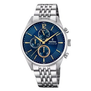 Festina  Stainless Steel Mineral glass