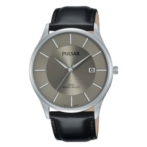 PULSAR Watch Stainless Steel Mineral glass Leather