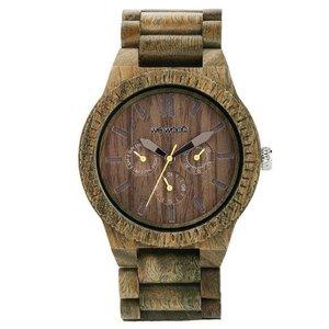 WEWOOD horloge Hout Staal Mineraalglas