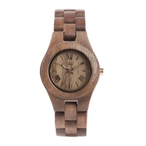 WEWOOD Reloj Madera Acero fino Cristal mineral