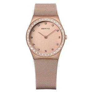 BERING horloge Staal Saffierglas Swarovski kristal