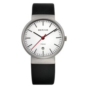 BERING Watch Titanium Sapphire glass Leather