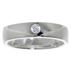 Ring Silver 925 Crystal Stripes Grooves Rills