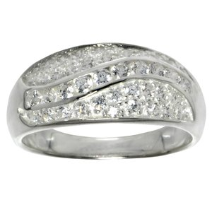 Ring Silver 925 Crystal Wave