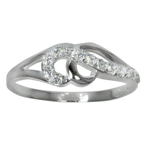 Ring Silver 925 Crystal Eternal Loop Eternity