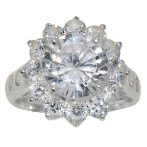 Fingerring Silber 925 Zirkonia Blume