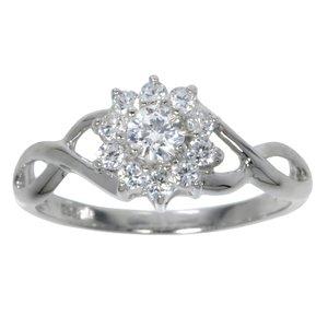Ring Silver 925 zirconia Flower Eternal Loop Eternity