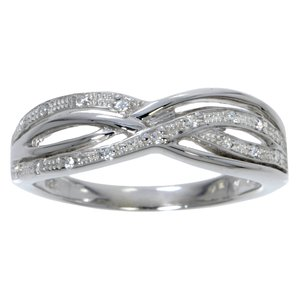 Ring Silver 925 zirconia Eternal Loop Eternity Wave