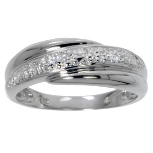 Ring Silver 925 zirconia Stripes Grooves Rills