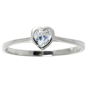 Ring Silver 925 zirconia Heart Love