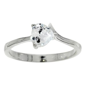 Ring Silver 925 Crystal Heart Love