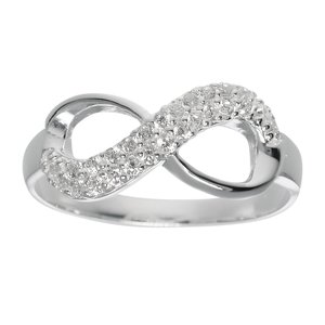 Ring Silver 925 zirconia Eternal Loop Eternity