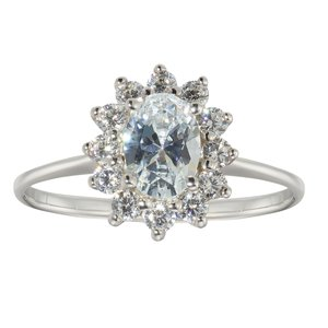 Ring Silver 925 zirconia Flower Star