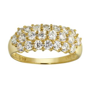 Ring Silver 925 Gold-plated zirconia