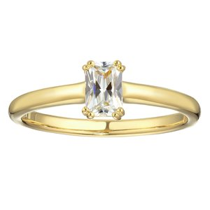 Ring Silver 925 PVD-coating (gold color) zirconia