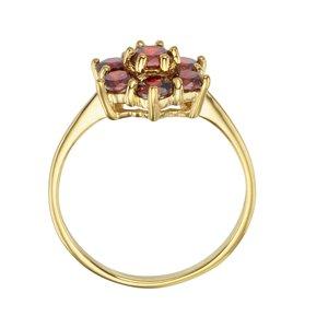 Fingerring Silber 925 Gold-Beschichtung (vergoldet) Zirkonia Blume