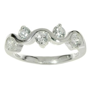 Ring Silver 925 zirconia Wave