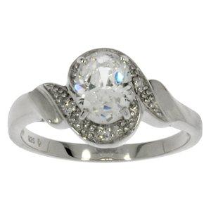 ring Gerodineerd zilver 925 Zirkonia