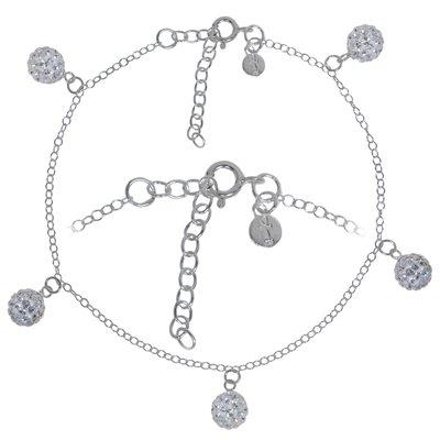 Fusskettchen Silber 925 Kristall