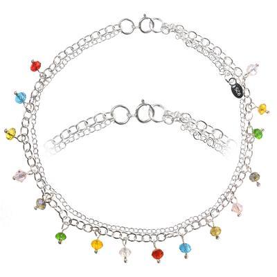 Fusskettchen Silber 925 Acrylglas