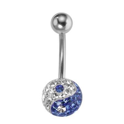 Bauchpiercing Chirurgenstahl 316L Swarovski Kristall Yin_Yang