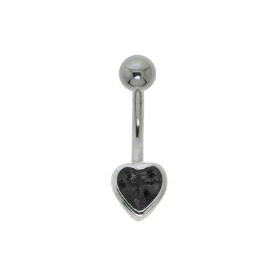 Bauchpiercing Chirurgenstahl 316L Silber 925 Zirkonia Herz Liebe