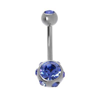 Bauchpiercing Chirurgenstahl 316L Kristall
