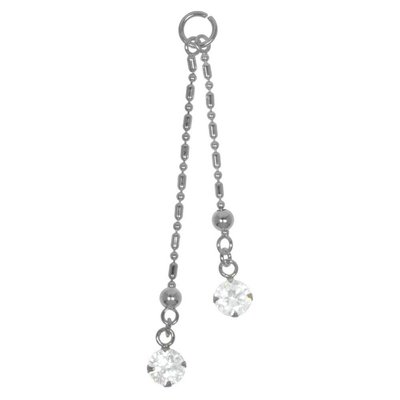 Bauchpiercing-Anhänger Silber 925 Kristall