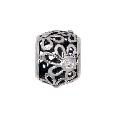 Bead Silber 925 Kristall Blume