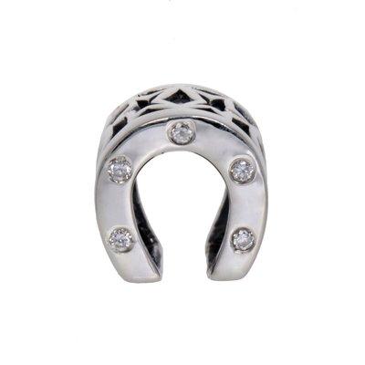 Bead Silber 925 Kristall Hufeisen Glück Glücksbringer
