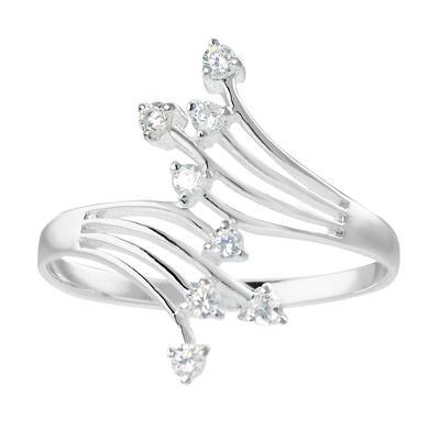 Bague de doigt Argent 925 Cristal