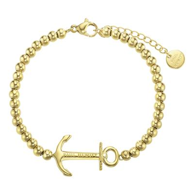 PAUL HEWITT Bracciale Acciaio inox Rivestimento PVD (colore oro) Ancora corda nave