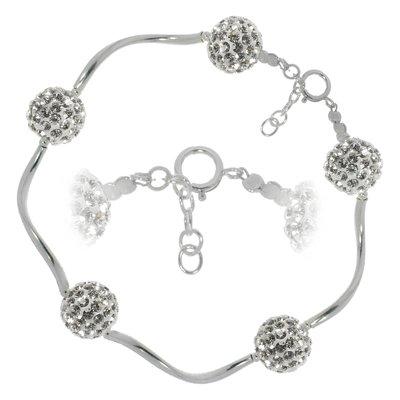 Silber-Armkettchen Silber 925 Kristall