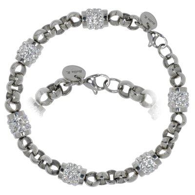 Bracelet Acier inoxydable Cristal Swarovski