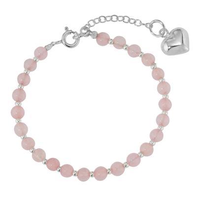 Kinder Armkette Silber 925 Kristall Herz Liebe