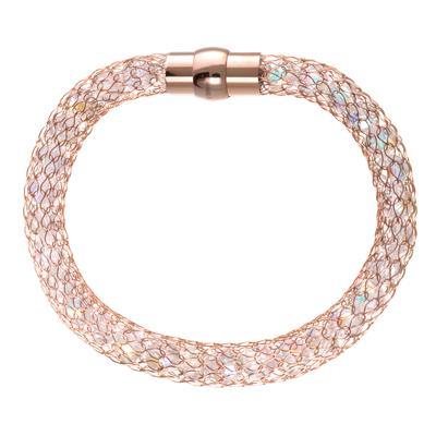 Bracelet Acier inoxydable Cristal Revêtement d´or (doré)