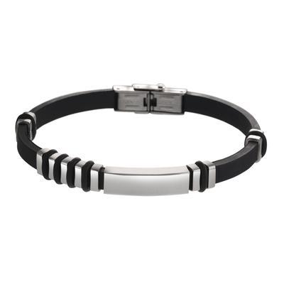 Armband Silikon Edelstahl PVC