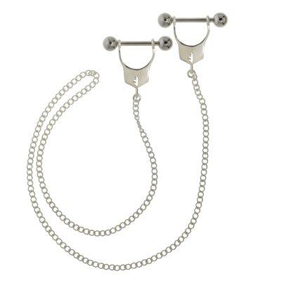 Brustpiercing Silber 925 Chirurgenstahl 316L Handschellen