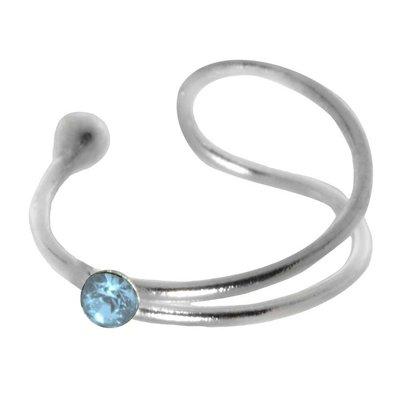 Ohrclip Silber 925 Kristall