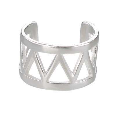 Ohrclip Silber 925 Dreieck