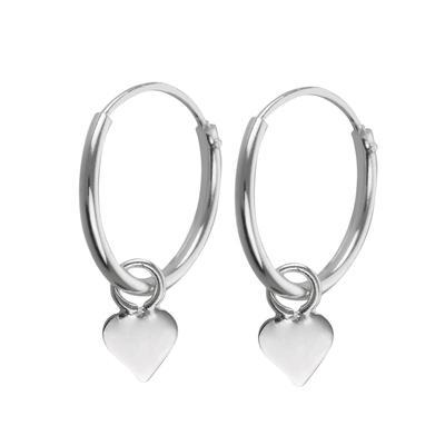 Kinder Ohrringe Silber 925 Herz Liebe