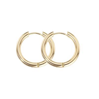 Creolen Chirurgenstahl 316L PVD Beschichtung (goldfarbig)