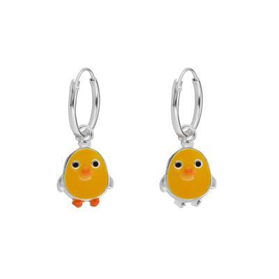 Kinder Ohrringe Email Silber 925 Adler Vogel Storch