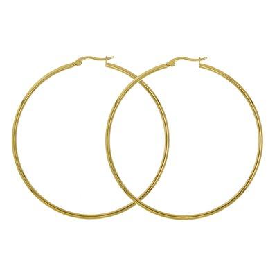 Creolen Chirurgenstahl 316L Gold-Beschichtung (vergoldet)