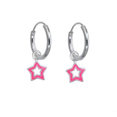 Kinder Ohrringe Silber 925 Email Stern