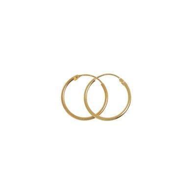 Creolen Silber 925 Gold-Beschichtung (vergoldet)